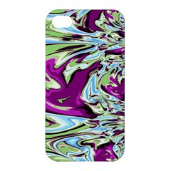 Purple, Green, And Blue Abstract Apple Iphone 4/4s Premium Hardshell Case by digitaldivadesigns