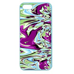 Purple, Green, And Blue Abstract Apple Seamless Iphone 5 Case (color) by digitaldivadesigns