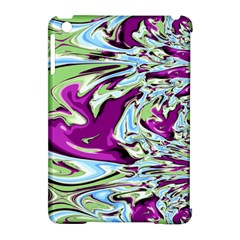 Purple, Green, And Blue Abstract Apple Ipad Mini Hardshell Case (compatible With Smart Cover) by digitaldivadesigns