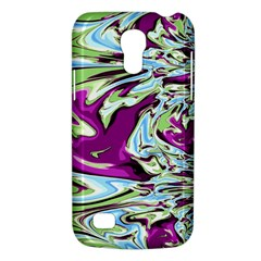 Purple, Green, And Blue Abstract Galaxy S4 Mini by digitaldivadesigns