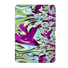 Purple, Green, And Blue Abstract Samsung Galaxy Tab 2 (10 1 ) P5100 Hardshell Case  by digitaldivadesigns