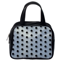 Black And White Polka Dot  Classic Handbags (one Side)