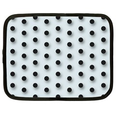 Black And White Polka Dot  Netbook Case (xl)  by OCDesignss