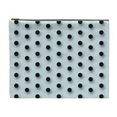 Black And White Polka Dot  Cosmetic Bag (xl)