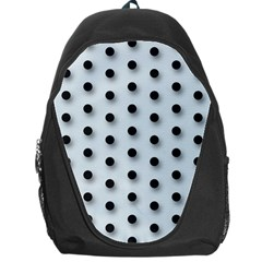 Black And White Polka Dot  Backpack Bag