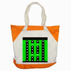 Florescent Green Polka Dot  Accent Tote Bag  by OCDesignss