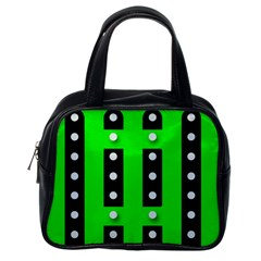 Florescent Green Polka Dot  Classic Handbags (one Side)