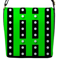 Florescent Green Polka Dot  Flap Covers (s)