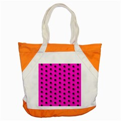 Hot Pink Black Polka-dot  Accent Tote Bag