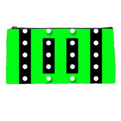 Florescent Green Black Polka Dot  Pencil Cases by OCDesignss