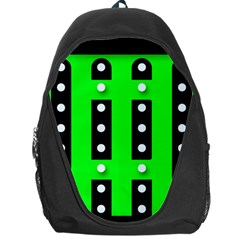 Florescent Green Black Polka Dot  Backpack Bag
