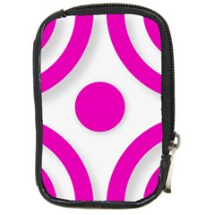 Florescent Pink White Abstract  Compact Camera Cases