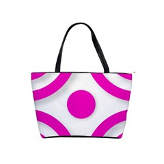 Florescent Pink White Abstract  Shoulder Handbags