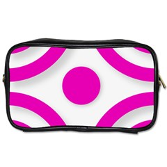 Florescent Pink White Abstract  Toiletries Bags