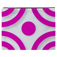 Florescent Pink White Abstract  Cosmetic Bag (xxxl)