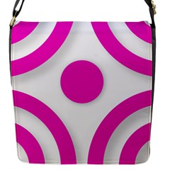 Florescent Pink White Abstract  Flap Messenger Bag (s) by OCDesignss