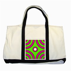 Neon Green Black Pink Abstract  Two Tone Tote Bag
