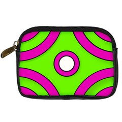 Neon Green Black Pink Abstract  Digital Camera Cases
