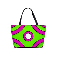 Neon Green Black Pink Abstract  Shoulder Handbags