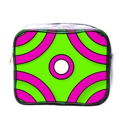 Neon Green Black Pink Abstract  Mini Toiletries Bags