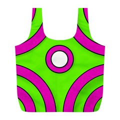 Neon Green Black Pink Abstract  Full Print Recycle Bags (l)  by OCDesignss