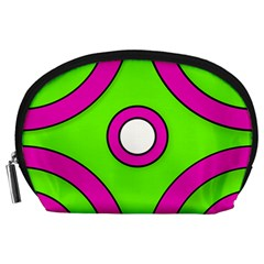 Neon Green Black Pink Abstract  Accessory Pouches (large)  by OCDesignss