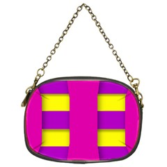 Florescent Pink Purple Abstract  Chain Purses (one Side)