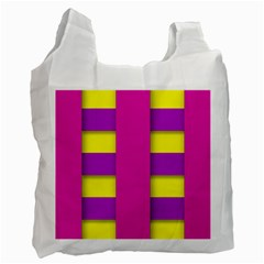 Florescent Pink Purple Abstract  Recycle Bag (one Side)