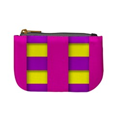 Florescent Pink Purple Abstract  Mini Coin Purses