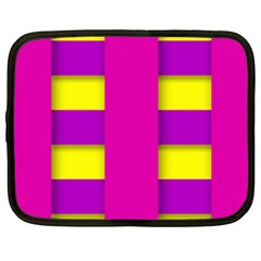 Florescent Pink Purple Abstract  Netbook Case (xxl)