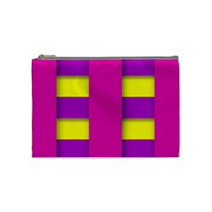 Florescent Pink Purple Abstract  Cosmetic Bag (medium)