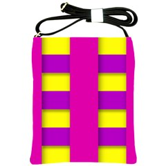 Florescent Pink Purple Abstract  Shoulder Sling Bags