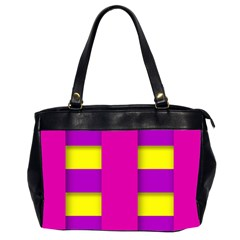 Florescent Pink Purple Abstract  Office Handbags (2 Sides)