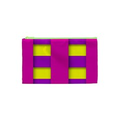 Florescent Pink Purple Abstract  Cosmetic Bag (xs)