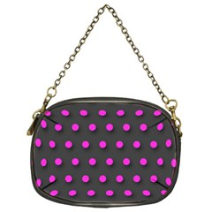 Pink Grey Polka Dot  Chain Purses (one Side)  by OCDesignss