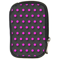 Pink Grey Polka Dot  Compact Camera Cases