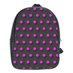 Pink Grey Polka Dot  School Bags(large)
