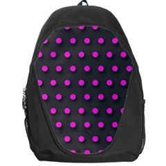 Pink Grey Polka Dot  Backpack Bag