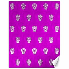 Skull Pattern Hot Pink Canvas 18  X 24   by MoreColorsinLife