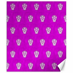 Skull Pattern Hot Pink Canvas 20  X 24   by MoreColorsinLife