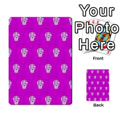 Skull Pattern Hot Pink Multi Purpose Cards (rectangle)  by MoreColorsinLife