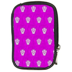Skull Pattern Hot Pink Compact Camera Cases by MoreColorsinLife