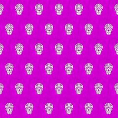 Skull Pattern Hot Pink Magic Photo Cubes by MoreColorsinLife