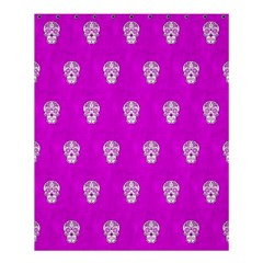 Skull Pattern Hot Pink Shower Curtain 60  X 72  (medium)  by MoreColorsinLife
