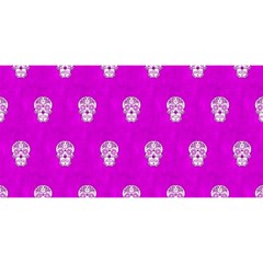 Skull Pattern Hot Pink You Are Invited 3d Greeting Card (8x4)  by MoreColorsinLife