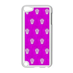 Skull Pattern Hot Pink Apple Ipod Touch 5 Case (white) by MoreColorsinLife