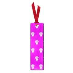 Skull Pattern Hot Pink Small Book Marks by MoreColorsinLife