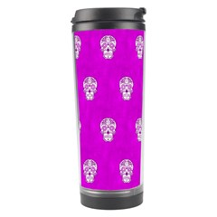 Skull Pattern Hot Pink Travel Tumblers by MoreColorsinLife