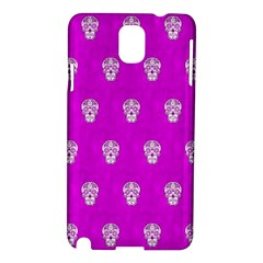 Skull Pattern Hot Pink Samsung Galaxy Note 3 N9005 Hardshell Case by MoreColorsinLife