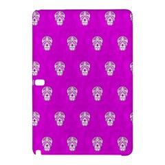 Skull Pattern Hot Pink Samsung Galaxy Tab Pro 12 2 Hardshell Case by MoreColorsinLife